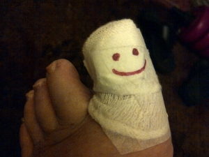 smiley toe